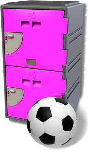 Sports Locker – 2 Door – Magenta